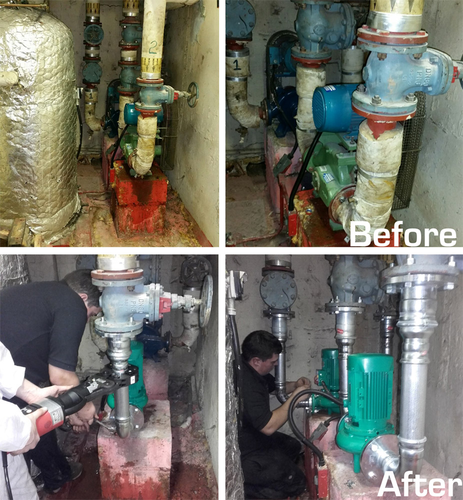 Before and After Wilo Pump Installation