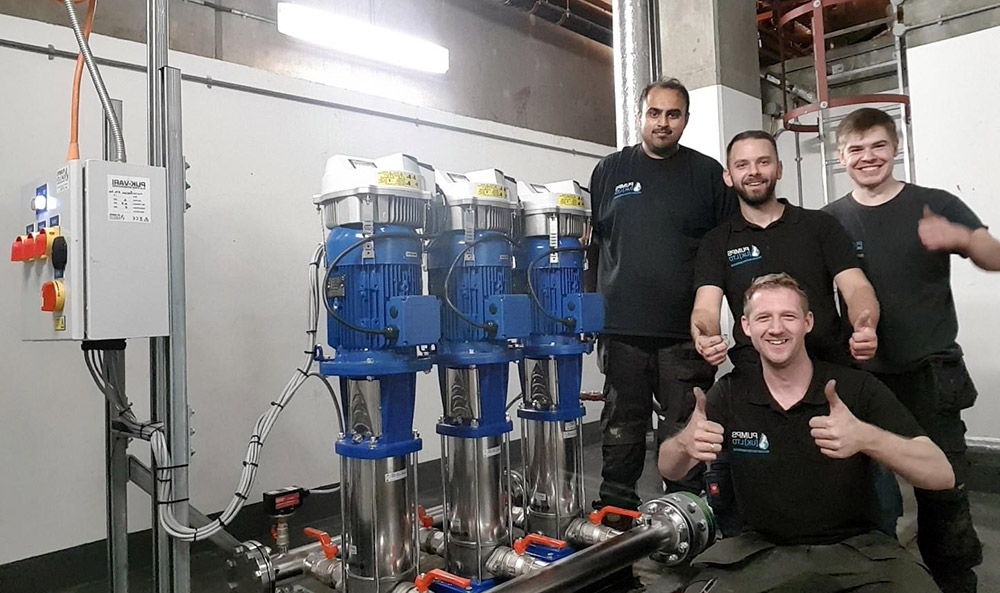 Happy Team with Booster Pump