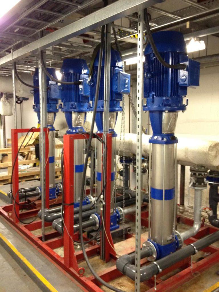 4 large Lowara Multistage Pump