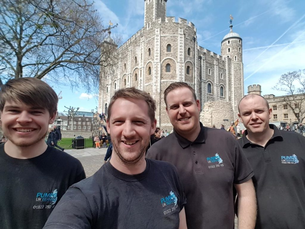 Pumps UK Team at Tower of London