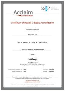 Acclaimed Accreditation Pumps UK
